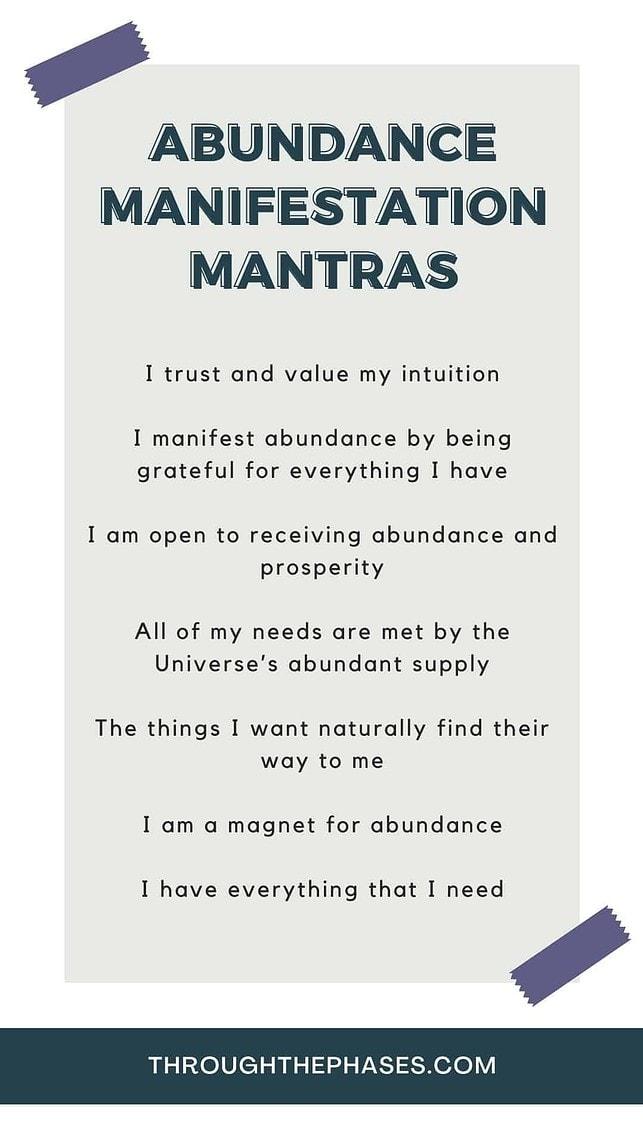 abundance manifestation mantras