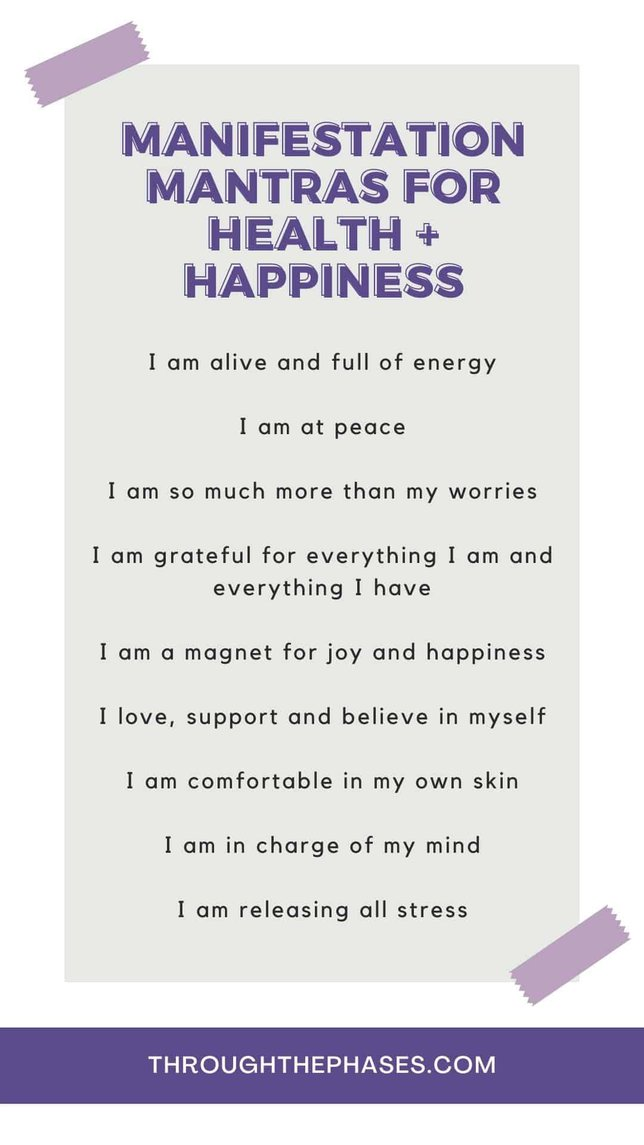 manifestation mantras for health and happiness