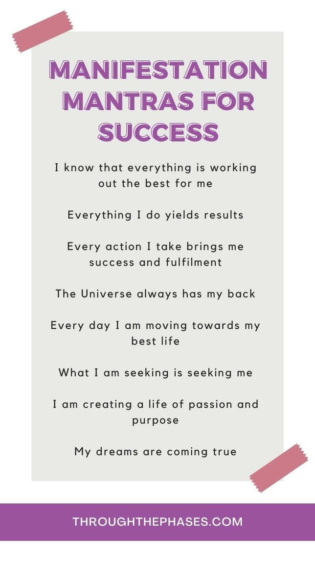 manifestation mantras for success