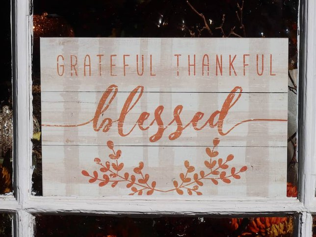 grateful thankful blessed signs