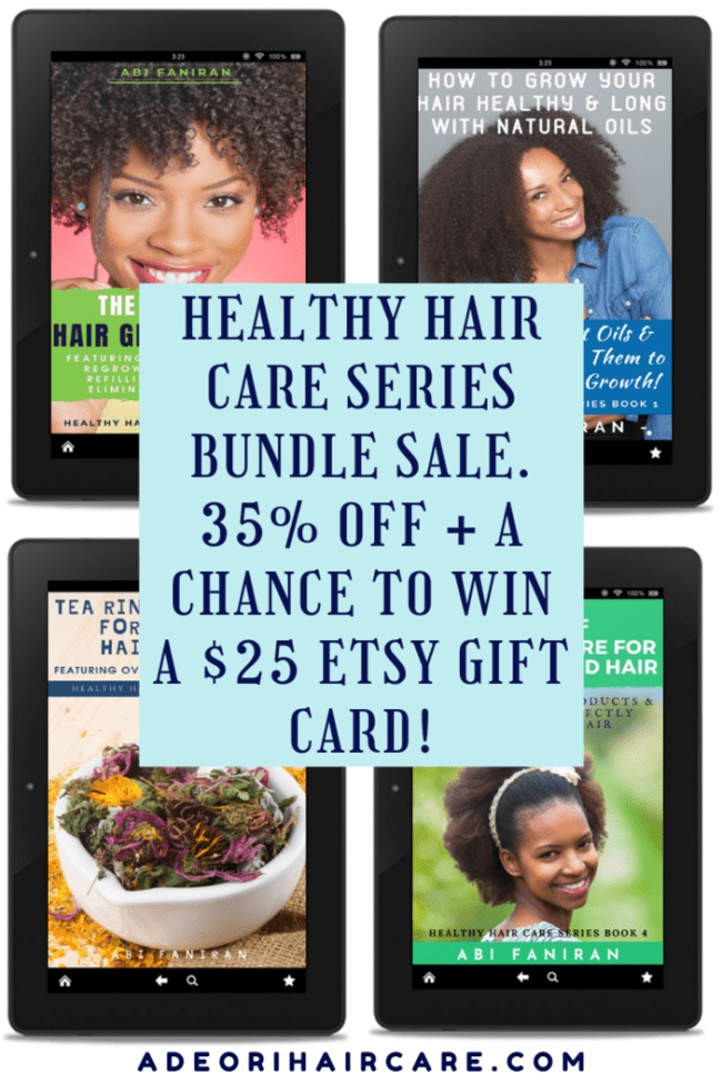 Healthy Hair Care Series Bundle Sale plus $25 Etsy Gift Card Giveaway