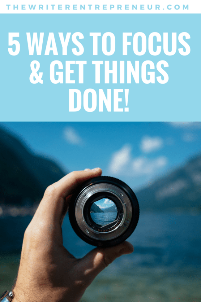 5 ways to focus and get things done. It is more than just a checklist