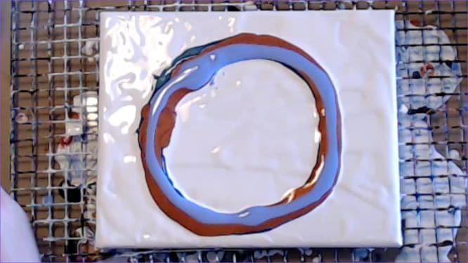 ring pour dutch pour in progress