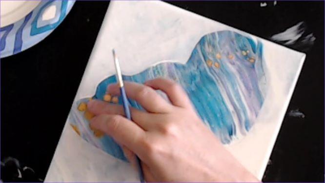 swipe butterfly painting in progerss