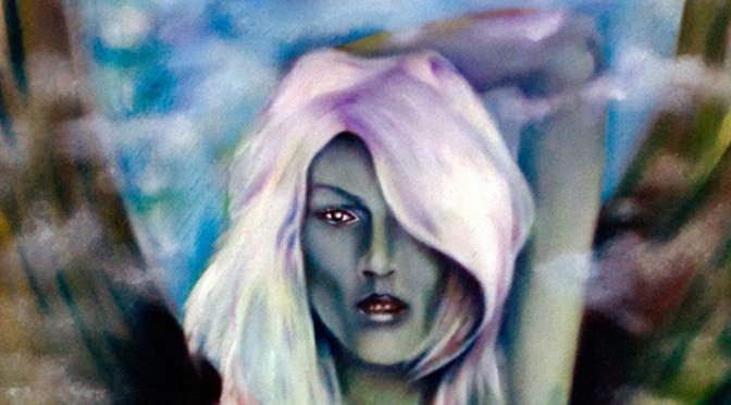 Greek goddess Nyx/ An original oil painting depicting the Goddess of night