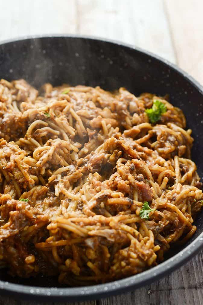 Vegan One Pot Taco Spaghetti