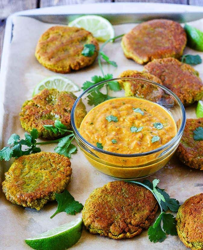 Yellow Split Peas Fritters with Curry Sauce