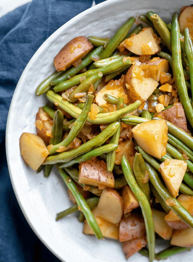 Vegan Southern Green Beans and Potatoes