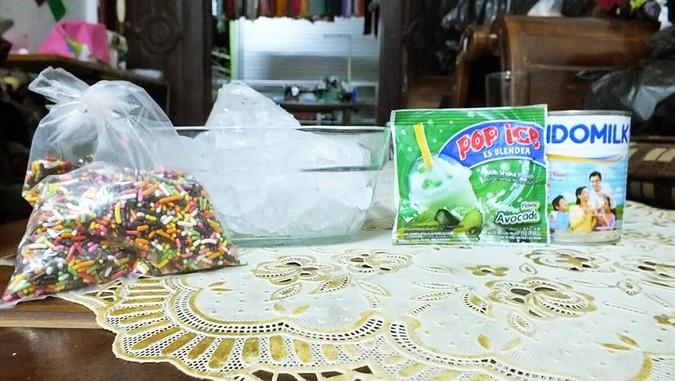 bahan-bahan pembuat milkshake, pop ice idolaku, manfaat susu, susu kental manis