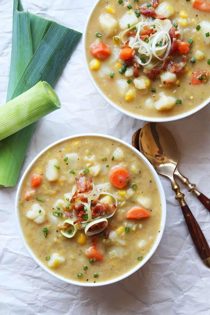 Creamy Vegetable Leek Soup