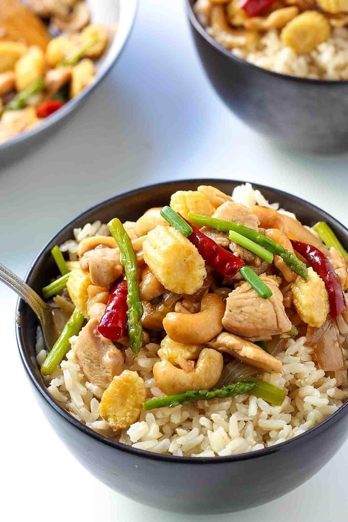 Thai Cashew Chicken with Rice