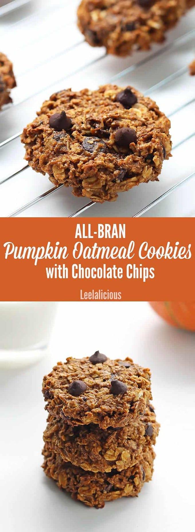 All-Bran Pumpkin Oatmeal Cookies