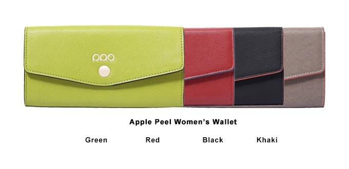 Apple peel women's wallet