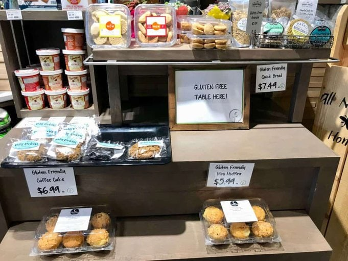 image of Gluten free bakery section at MFB!