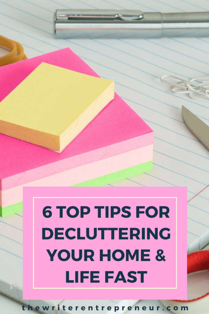 6 top tips for decluttering your home and life fast this year. Declutter with ease