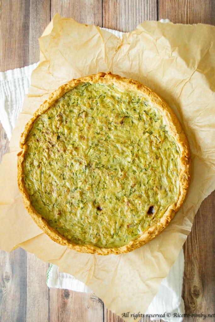 Torta salata zucchine e patate bimby