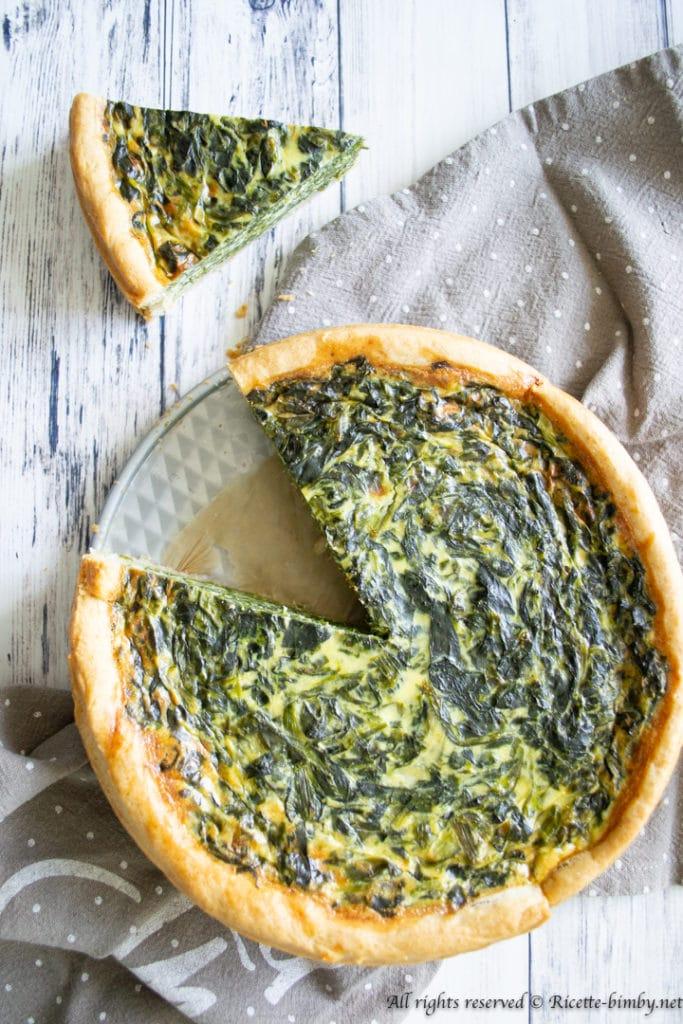 Torta salata agli spinaci bimby