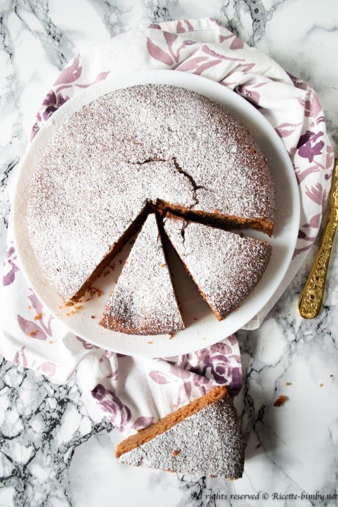 Torta arancia e cioccolato bimby