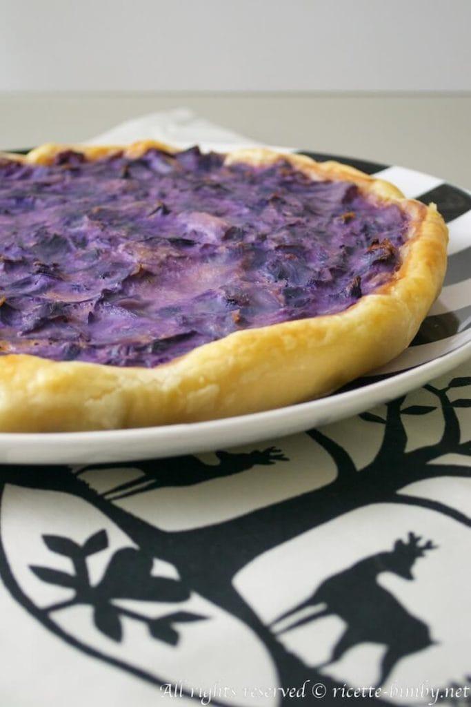 Torta salata al cavolo cappuccio viola bimby