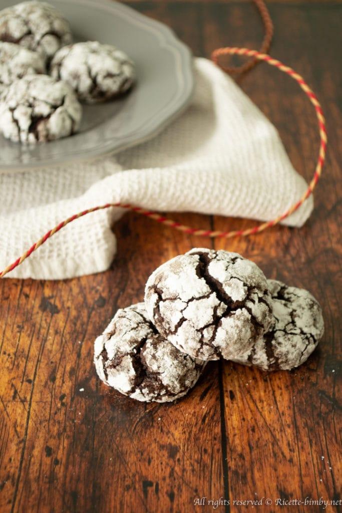 Chocolate crinkle cookie bimby