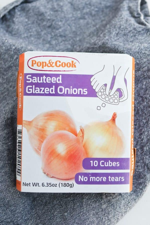 Picture of frozen sautéed onions for barbecue sauce