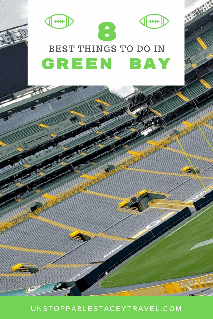PIN THIS: 8 best things to do in Green Bay with photo of Lambeau Field stadium
