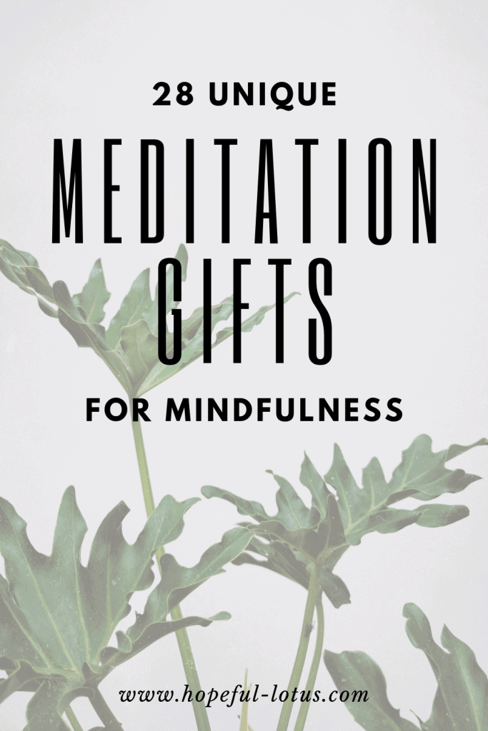 28 unique and affordable meditation gifts for mindfulness - these essential meditation items make the perfect gift for loved ones who are interested in meditation and mindfulness! They can be gifted alone or combined to create a meditation starter kit or mindfulness gift box!