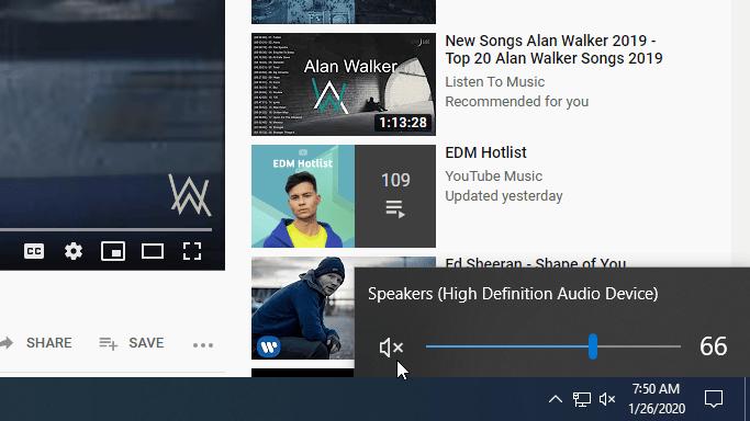 Windows 10 - Mute Speaker - Step 3