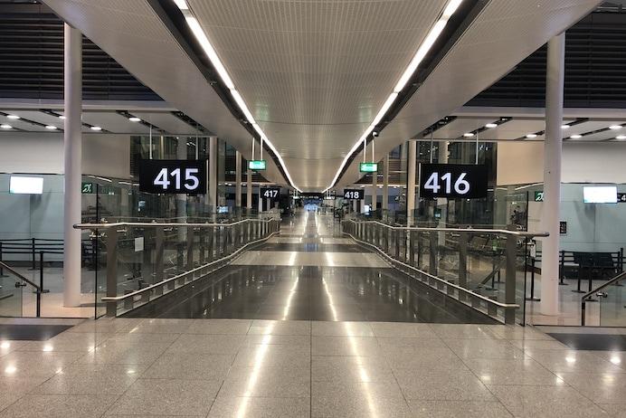 Coronavirus Travel Restrictions Advice Ireland - An empty Dublin Airport.