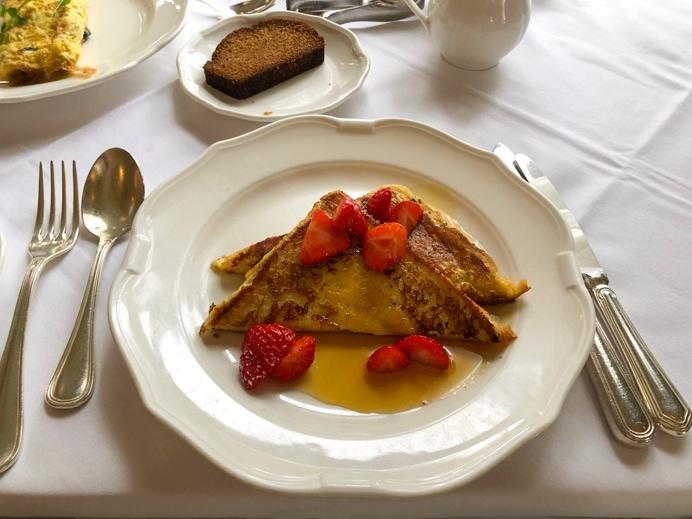 Breakfast at the Glenlo Abbey Hotel.