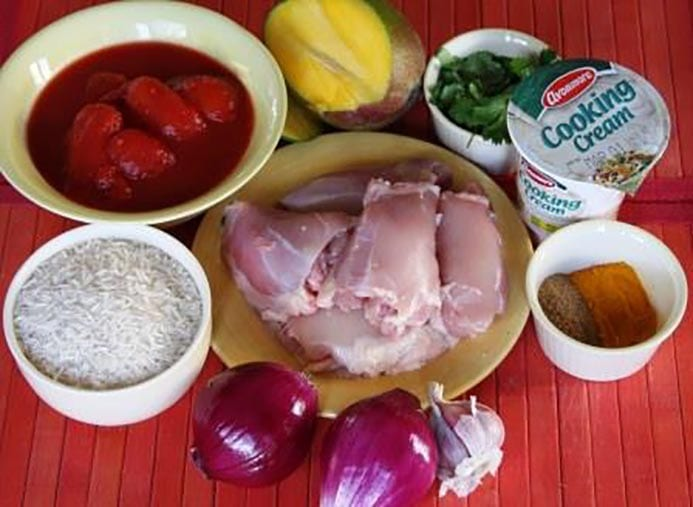 Mango Chicken Curry Recipe one-pot
