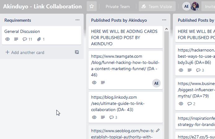 Trello - Free Content Calendar Tool