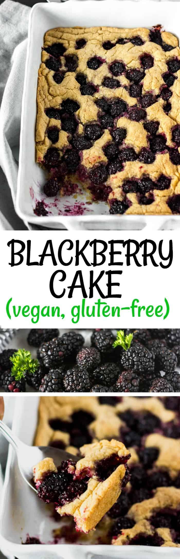 Vegan Gluten-Free Blackberry Cake