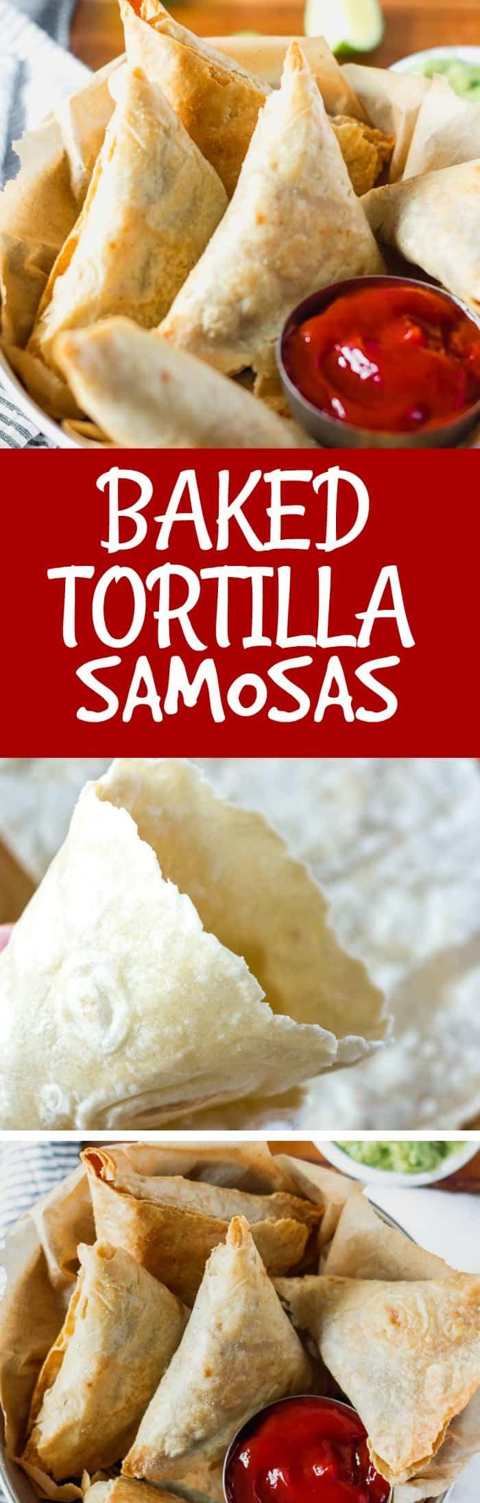 Baked Tortilla Samosas Pin
