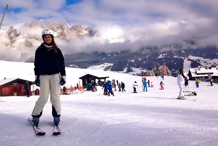 Skiing in the Alps, Tofana, Dolomites, Italy - Experiencing the Globe