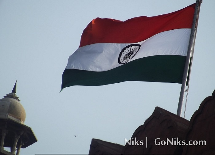 Indian Flag At Red Fort