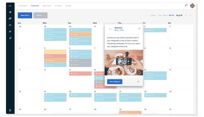 SkyWord - Freemium content calendar tool