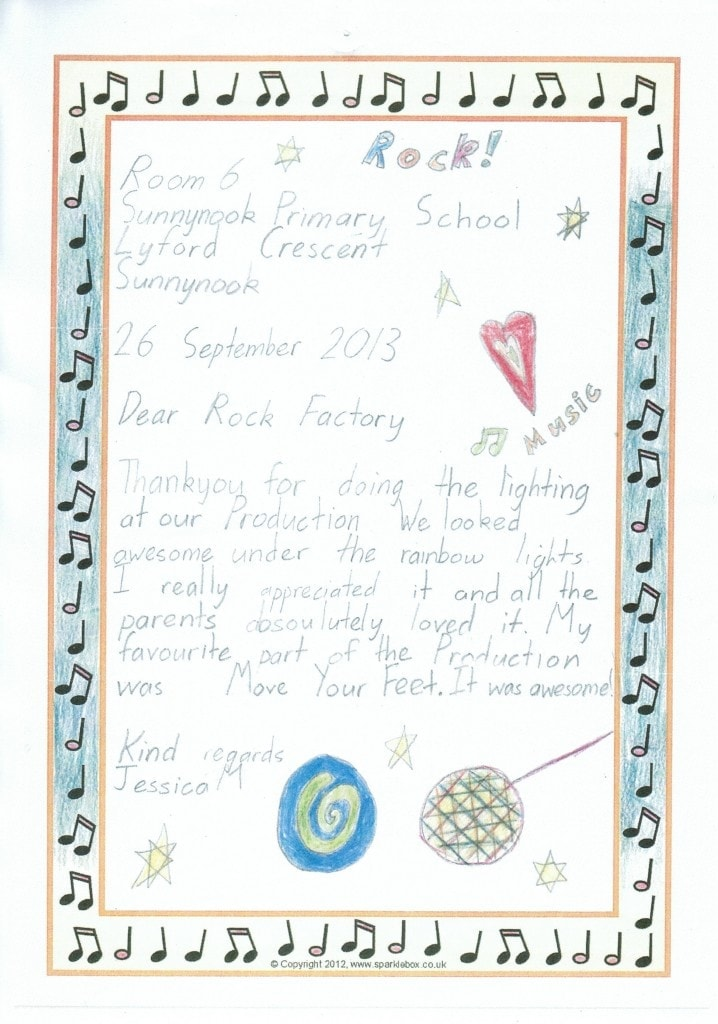 Thank you letter from Client!