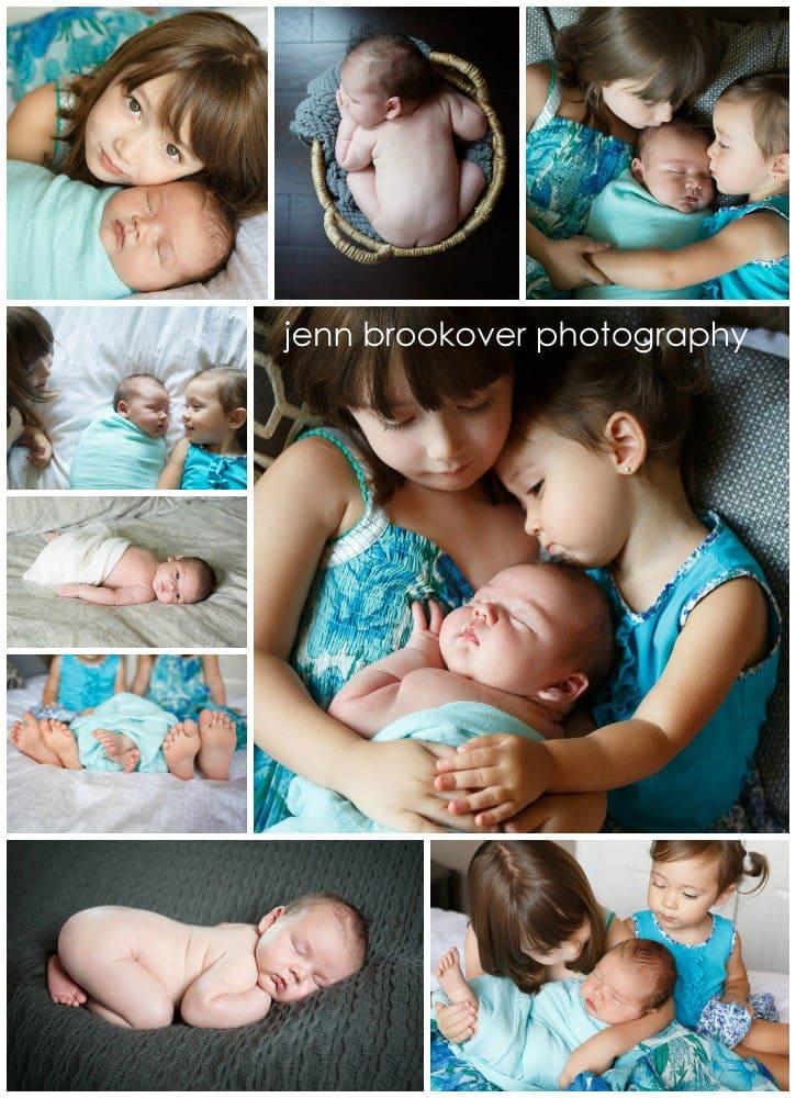 newborn collage, newborn photos, newborn photography