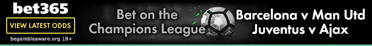 bet365 Champions League an United Odds