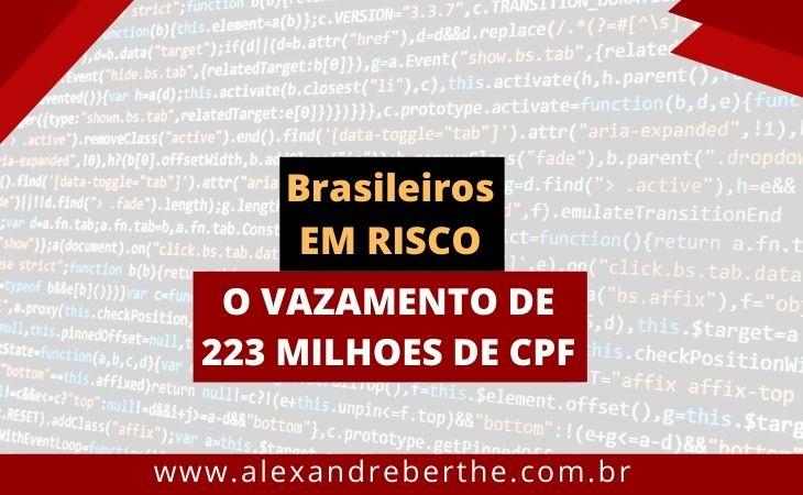 Vazamento dados de todos brasileiros