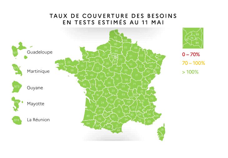 フランスロックダウン解除マップ