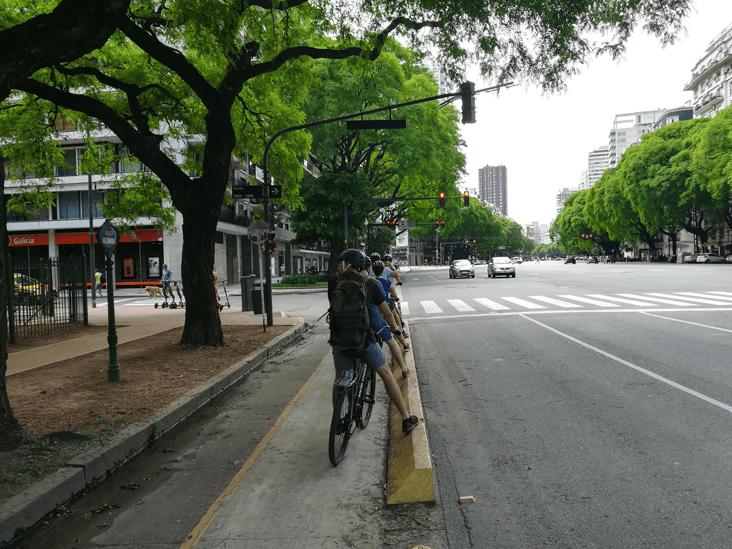 Comfy bike lane on Libertador Av.
