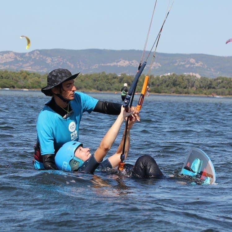 corso kitesurf principiante punta trettu