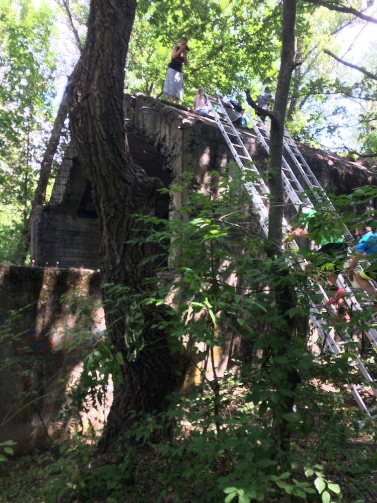 Лестница на сталинский тоннель на Kyiv Trail
