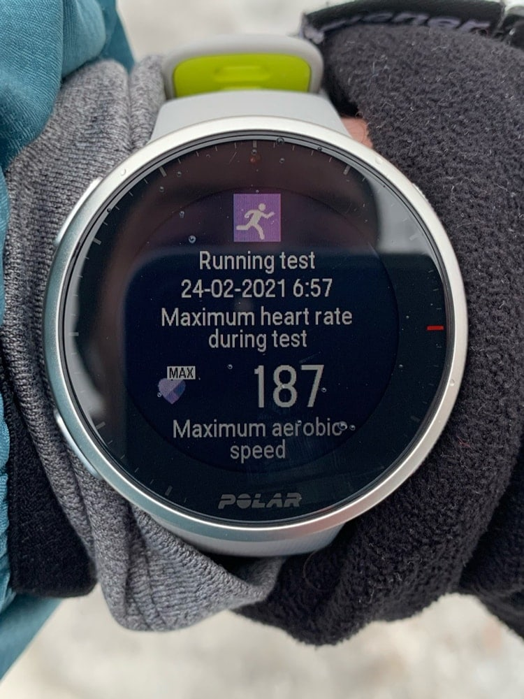 Running Performance test в Polar Vantage V2