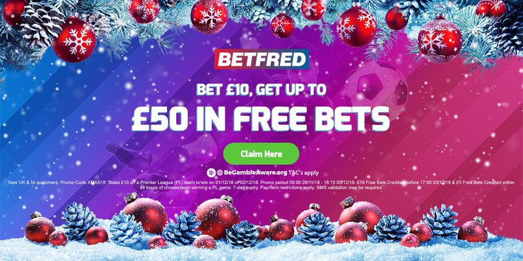 Betfred is offering up to £50 in Free Bets - use the betting money on our Leicester Vs Watford Tips!