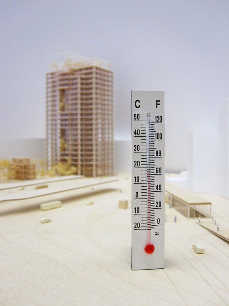 illustration de température pour conserver une maquette