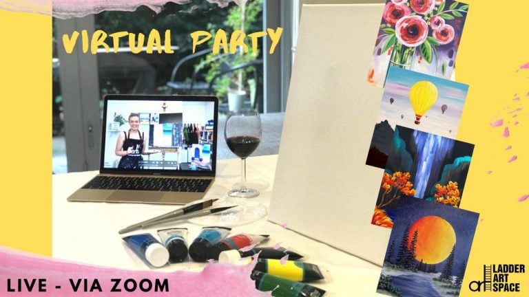 online paint and sip Melbourne