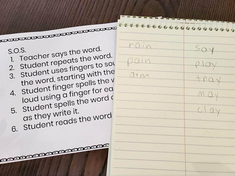 multisensory spelling activity